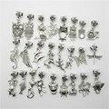 Различные металлические подвески-талисманы с фигурками животных для браслета Пандора. 30 шт на партию.
