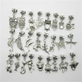 Mix 30 pcs Moda Big Hole Solta Pérolas Europeus Pingente Animal Bead Serve Charms Pandora Pulseiras & pingentes diy Jóias