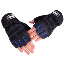 1 pair Half Finger Fitness Gloves Weight Lifting Protect Wrist Gym Training Fingerless Weightlifting Sport Men