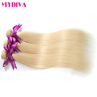 Mydiva HAIR 613 Blonde Hair Bundles Straight Human Hair Extension 12 24 Inches Non Remy Brazilian