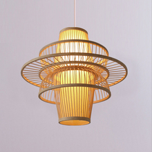 Japanese Simple Bamboo Wicker Rattan Pendant Lights Led  Southeast Asia Dining Room Decor Hanging Lamp Lighting Luminaire modern southeast asia pastoral hand knitted rattan wicker led e27 pendant light for dining room living room dia 27 37 42cm 2288