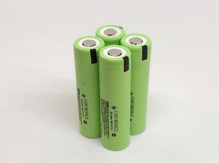 10pcs/lot New Original Battery For Panasonic CGR18650CG 18650 3.7V 2250mAh Rechargeable Lithium Batteries (CGR18650CG)