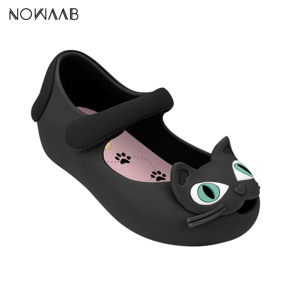 Mini Melissa Cat Beach Slide Sandal  2019 New Summer Boy Girl Jelly Shoes Girls Non-slip Sandals Kids Beach Sandal Toddler