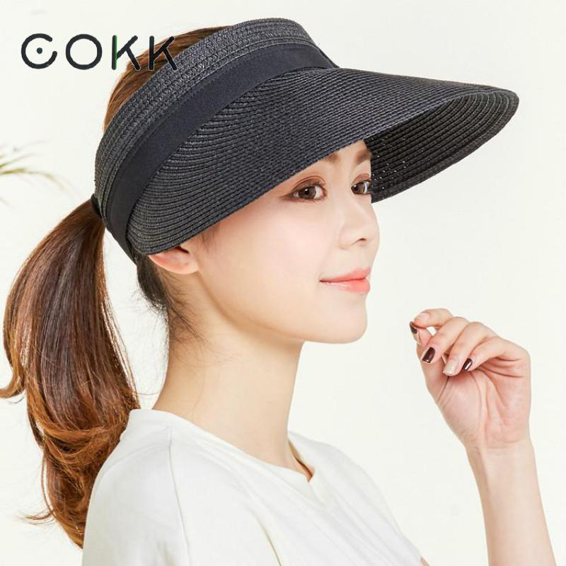 893cd23b0 COKK Sun Hat Summer Hats For Women Foldable Uv Protection Anti uv ...