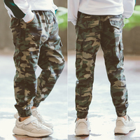 2019 New Autumn Spring Children Kids big girls Boy School Camouflage Sports Long Pants For Boys \GirlsTrousers 4 14 Years