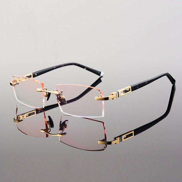 Titane lunettes, sans monture prescription lunettes myopie modèles  masculins avec myopie hypermétropie, livraison gratuite 0205dbbf8e07