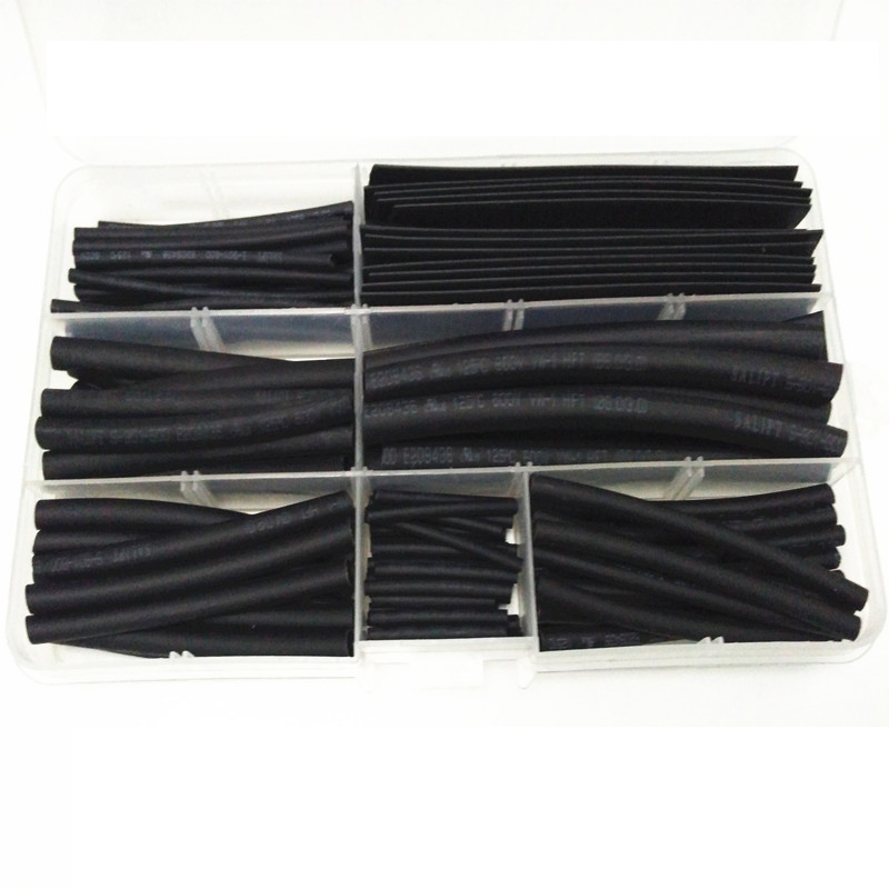 Wire Cable Protective Contractile Tube Black Household DIY Combination Box Heat Shrinkable Tube Insulating Sleeve 1packing