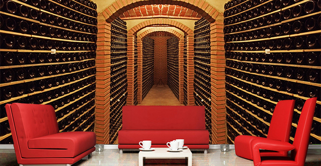 Free Shipping 3D red wine cellar Large mural Club salon theme hotel cafe bar KTV wallpaper & Free Shipping 3D red wine cellar Large mural Club salon theme hotel ...