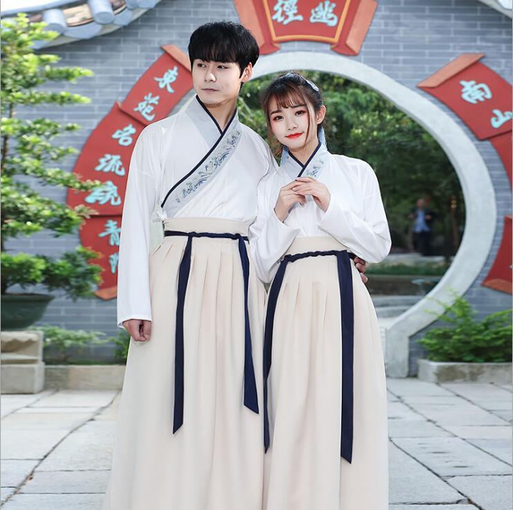 Unisexe Original Hanfu GuangDong brodé croix foulard épées homme femme style uniforme spécial costume Canton broderie - 3