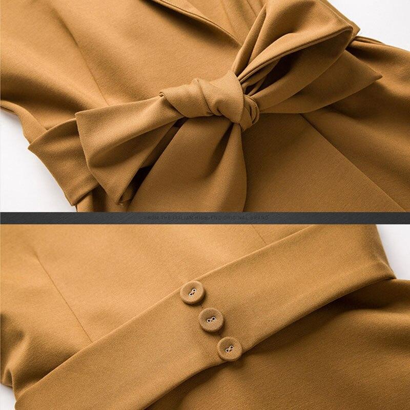 2018 Φθινόπωρο Φθινόπωρο Φορέματα - Γυναικείος ρουχισμός - Φωτογραφία 4