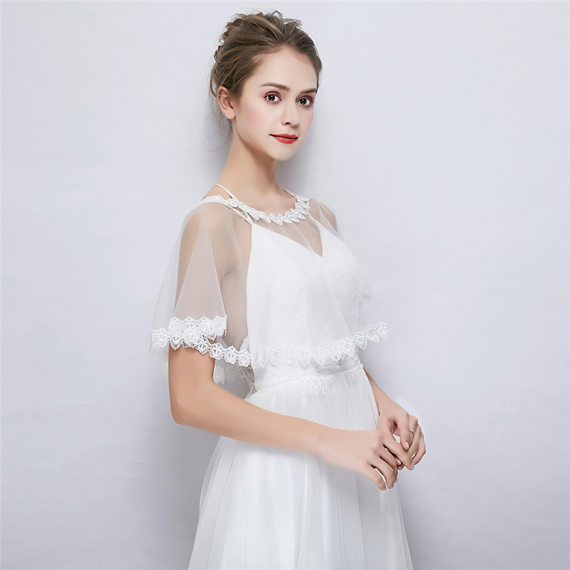 Modern Women Wedding Dress Wrap Bolero Soft Lace Dress Cover Up