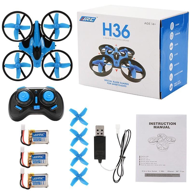 LeadingStar JJRC H36 Mini RC Drone 2.4 GHz 4CH 6 Axe Gyro RC Quadcopter Mode Sans Tête Volante Drone Hélicoptère Batterie Supplémentaire zk30