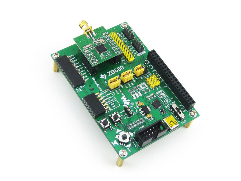 Parts ZigBee Module Wireless Communication Evaluation Kit Motherboard CC2530F256+ Core2530 + 2.2''LCD + 3Modules = CC2530 Eval K usb serial rs485 rs232 zigbee cc2530 pa remote wireless module