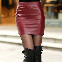 2020 Otoño e Invierno moda Casual de talla grande falda de cuero real marca femenina señoras mujeres Niñas Ropa ropa