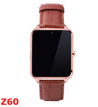 2016 neue sitzende erinnern inteligente z60 smart watch tf-karte kamera bluetooth smartwatch für ios android-handy