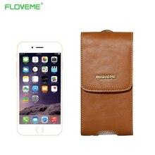 Floveme роскошный натуральная кожа case для iphone 7 6 plus samsung galaxy s6 s7 s6 край примечание 7 универсальный чехол капа чехол случаи сумка