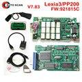 Hot Vender V7.83 lexia 3 com Firmware 921815C!!! Lexia3 Diagbox PP2000 Para Ci-trøen Para-Pe ugeot V7.83 Frete grátis