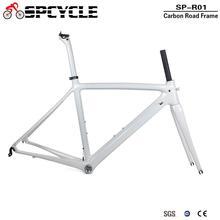 Spcycle T1000 מלא פחמן כביש אופני מסגרת 700C כביש אופניים פחמן מסגרת BSA 68mm OEM מירוץ אופניים מערךמסגרות 50/53/55cm