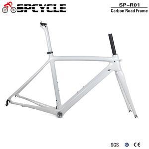 Image 1 - Spcycle T1000 كامل الكربون الطريق إطار دراجة هوائية 700C الطريق دراجة الكربون الإطار BSA 68 مللي متر OEM سباق دراجة إطارات 50/53/55 سنتيمتر