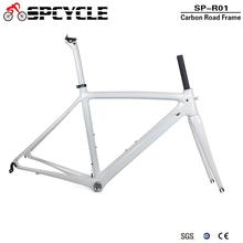 Spcycle T1000 Full Carbon Road Bike Frame 700C Road Bicycle Carbon Frame BSA 68mm OEM Racing Bicycle Frameset 50/53/55cm