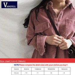 Nowy Harajuku sztruks kurtki damskie zimowe jesień płaszcze Plus rozmiar płaszcze damskie duże topy słodkie kurtki jednolity kolor odzież 6