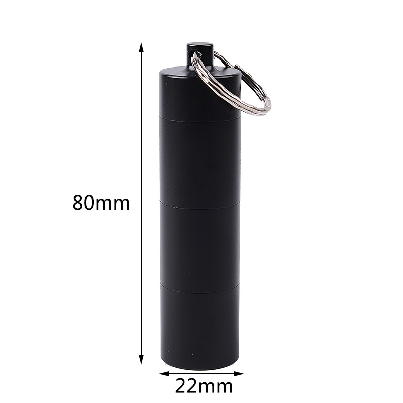 Outdoor EDC Survival Portable Aluminum Alloy Waterproof Seal Bottle Four Independent Divisions With 6 Rubber Ring 2018 Bthi