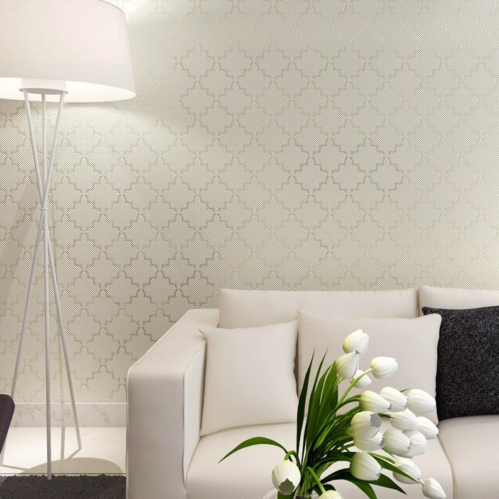 Us 29 8 Quiet Elegant Cream Bedroom Wallpaper Decor Solid Wallcovering Papel De Parede Para Quarto In Wallpapers From Home Improvement On Aliexpress