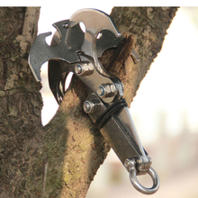 Outdoor Multi-function Stainless Climbing Hook Gravity Hook Grappling Outdoor Climbing Claws Car Traction Rescue EDC Tool outad outdoor stainless steel gravity hook carabiner key chain magnet foldable grappling climbing claw car camping edc tool