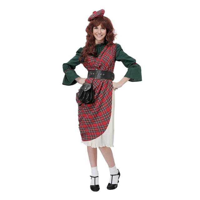 Frauen Schottischen Traditionellen Tartan Erwachsene Highland Lassie ...