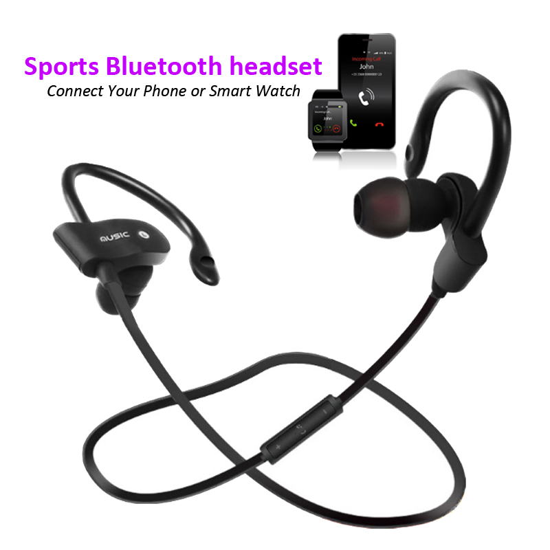 56S Portable Sport Wireless Bluetooth Earphones Anti-sweat Bass Stereo Headset voice call Mic connection Phone Smart Watch g6 tactical smartwatch