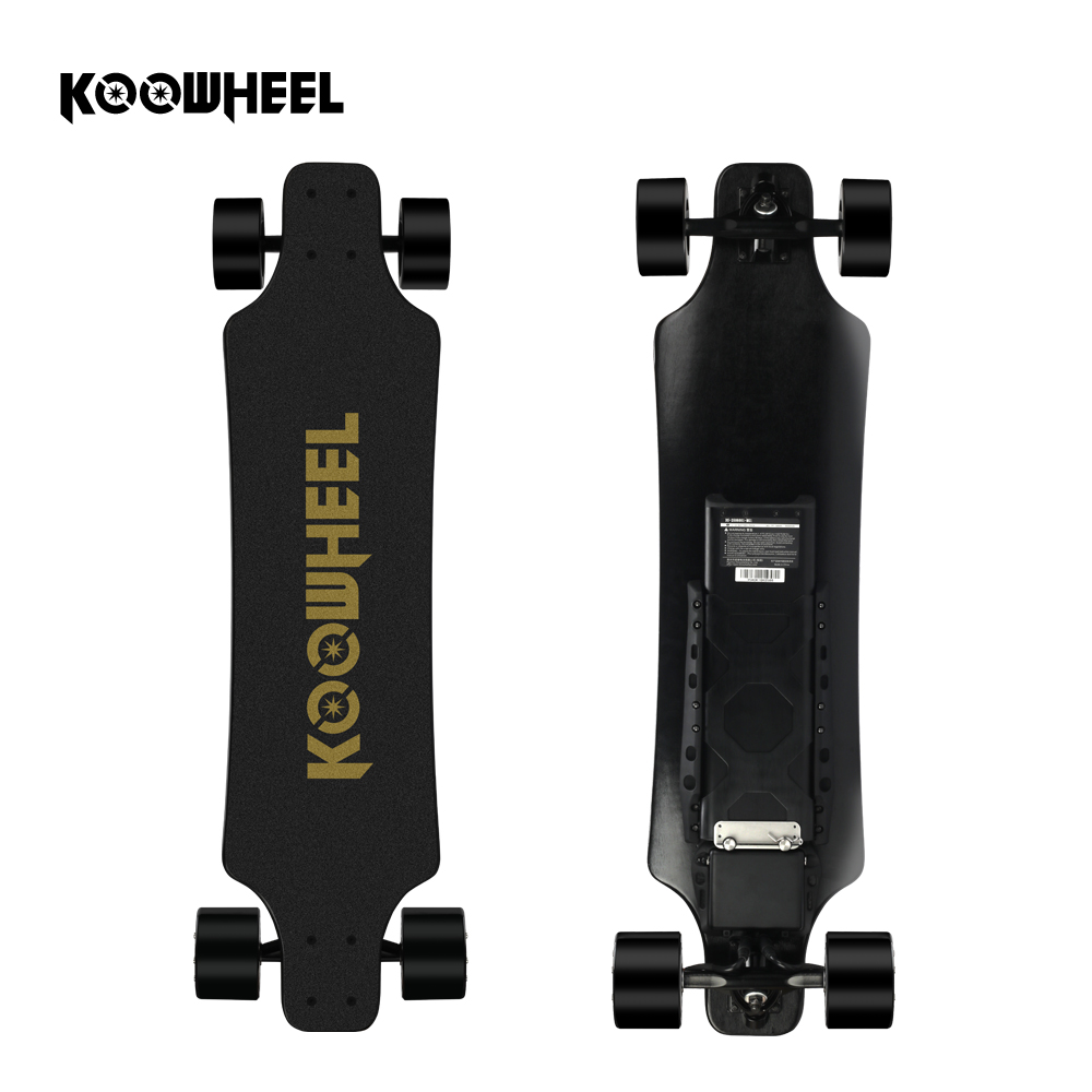 2019 Koowheel Atualização 2nd Gen 5500mAh Bateria Skate Elétrico 4 rodas Longboard Elétrica Motor Duplo Skate para Adulto
