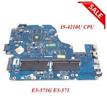 NOKOTION Z5WAH LA B162P REV 1.0 NBMLB11004 NB.MLB11.004 for Acer aspire E5 571G Motherboard I5 4210U CPU 820M graphics