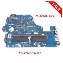 NOKOTION Z5WAH LA B162P REV 1,0 NBMLB11004 NB MLB11.004 para acer aspire E5 571G placa base I5 4210U CPU 820 M graphics
