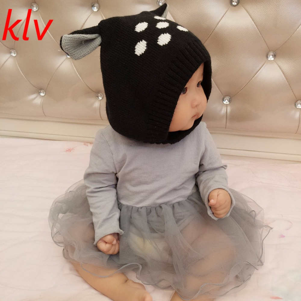 Hot Sell Chapeu de bebe Cute Deer Ear Toddler Boys Girls Cartoon Winter Warm Beanie Hat Baby Crochet Cap