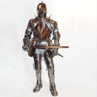 Warrior cosplay clothes Stainless steel costume knight cavalier costume Medieval Armor adult medieval knight costume helmet