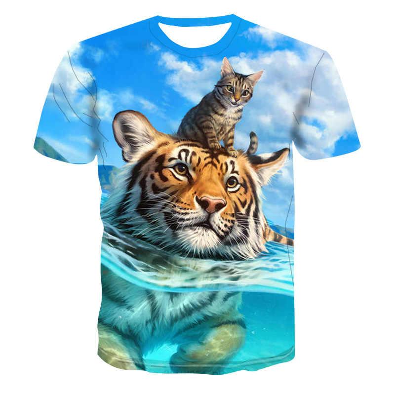 새로운 뜨거운 판매 갤럭시 갤럭시 3d 늑대 남자 티셔츠 여름 인쇄 캐주얼 셔츠 플러스 크기 오-넥 반팔 패션 청소년 티셔츠