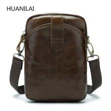 цена на HUANILAI Men's Bags Genuine Leather Messenger Bags Retro Cowhide Shoulder Bags  Crossbody Bags Leather Handbags MLT05