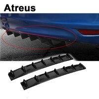 Atreus Car Bumper Exhaust Pipe Chassis Shark 7 Wings Spoiler For BMW e46 e39 e36 Audi a4 b6 a3 a6 c5 Renault duster Lada granta