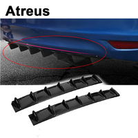 Atreus Car Bumper Exhaust Pipe Chassis Shark 7 Wings Spoiler For BMW e46 e39 e36 Audi a4 b6 a3 a6 c5 Renault duster Lada granta