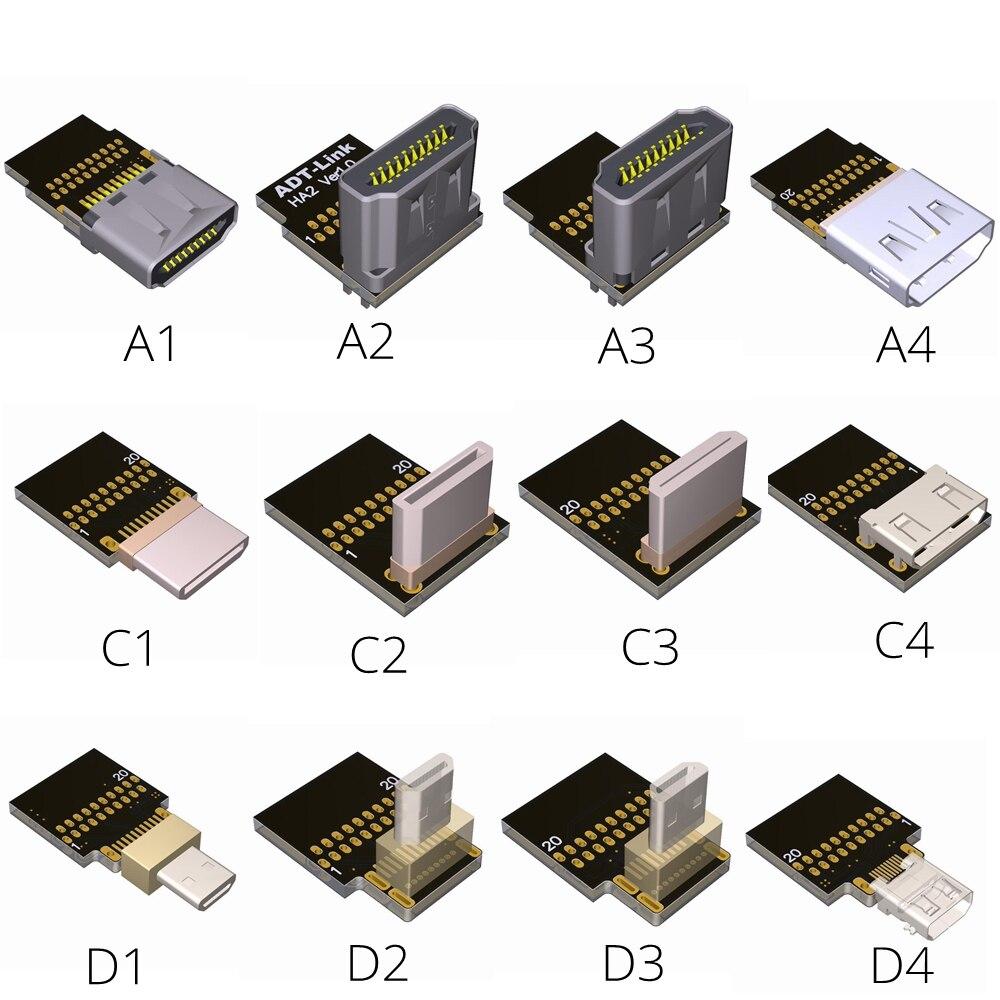 Купить с кэшбэком Mini-HDMI to HDMI Cable -10cm 20cm 30cm 50cm 1/2 /3 Feet 4Kx2K@60Hz hdmi Mini hdmi Micro Converter Cabo Up Down Right Left Angle