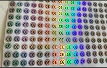 1 سنتيمتر CE التسمية ملصقا الفضة CE التسمية مقاومة درجات الحرارة العالية مقاوم للماء CE ملصق الاتحاد الأوروبي شهادة القياسية