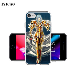 Image 4 - IYICAO Saint Seiya Soft Silicone Phone Case for  iPhone X XR XS MAX 6 6s 7 8 Plus X 5 5S SE TPU Cover