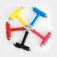 T-Type Skateboard Tool All In One Schroevendraaier Socket Multifunctionele Skate T-Tool Mini Kick Scooter Tool(China)