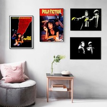 Pulp Fiction Vintage Movie Posters and Prints Wall art Decorative Picture Canvas Painting For Living Room Home Decor Unframed