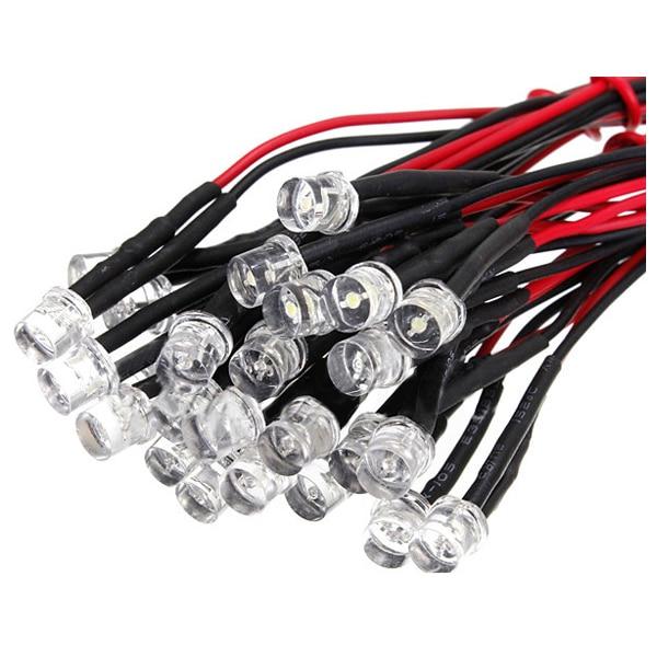 DSHA 20CM 12V Wired For Light Emitting Diode Wiring LED Lot Size: 5mm Flat Top QTY:10PcsDSHA 20CM 12V Wired For Light Emitting Diode Wiring LED Lot Size: 5mm Flat Top QTY:10Pcs