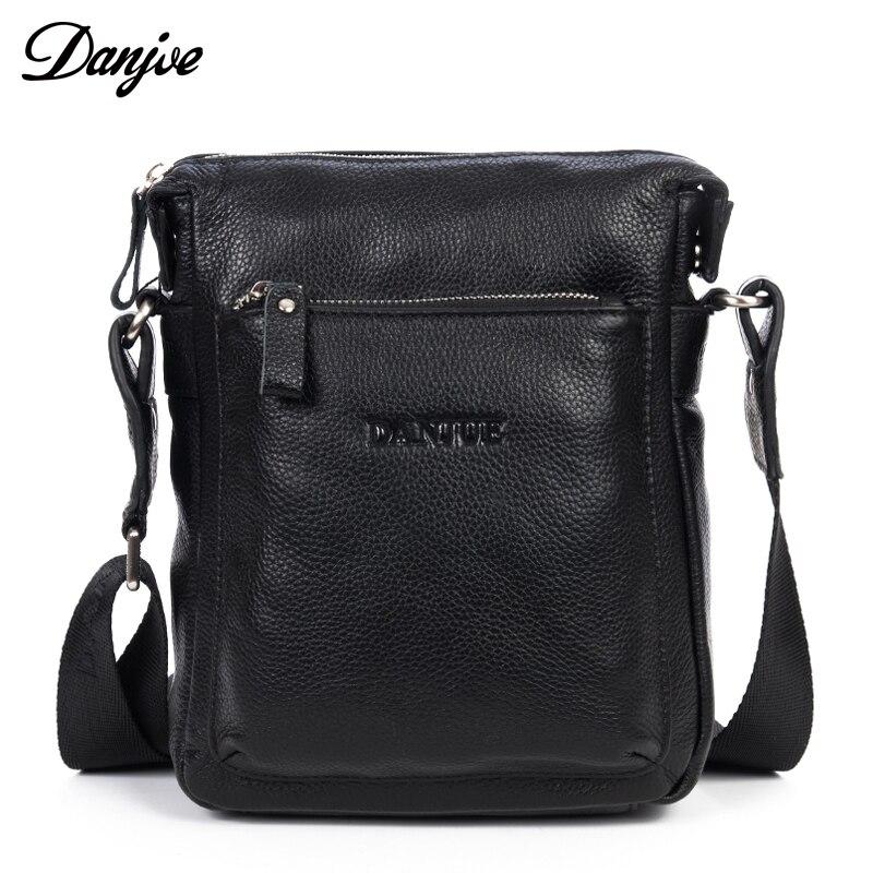 DANJUE Genuine Leather Shoulder Bag Men Natural Leather Casual Small Brand Messenger Bag Business High Quality New Crossbody Bag
