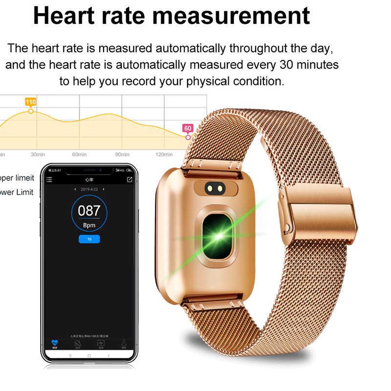 Модные Смарт-часы для мужчин и женщин, монитор сердечного ритма, трекер артериального давления, фитнес-трекер, спортивные водонепроницаемые Смарт-часы для iPhone