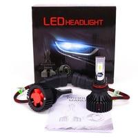AZGIANT 2PCS T8 8000Lm Automobile Led Headlamp Fog Light Bulb 6500K Pure White IP65 Waterproof H7 H4 H13 9004 H11 9006