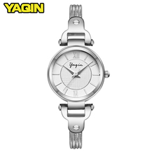 цена 2018 women watch ultra-thin stainless steel quartz watch ladies leisure time bracelet watch ladies lover's women clock gift онлайн в 2017 году