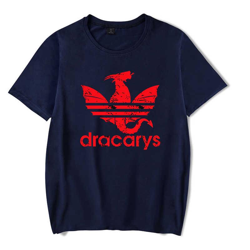 Tsingyi Dracarys T shirt Unisex Adults Women Mens Shorts Summer Game of thrones shirt harajuku Vintage Camisetas hombre Tshirt